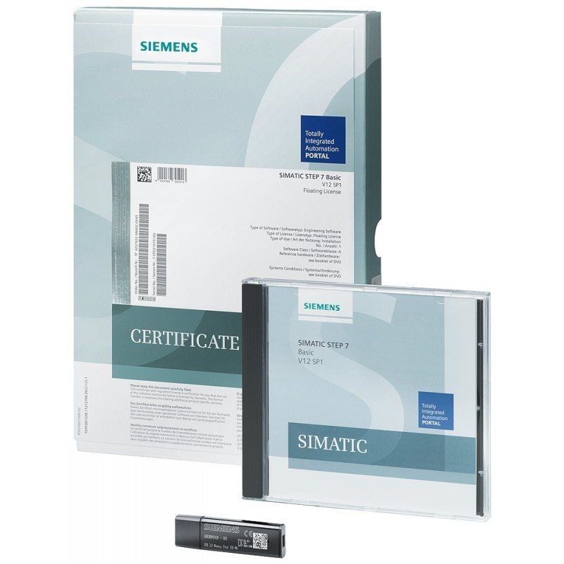 Siemens 6ES7822-1AA03-0YA5 SIMATIC STEP 7 PROF. V13 SP1 FLOATING LICENSE, ENGINEERING SOFTWARE IN TIA PORTAL